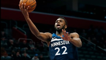 Wolves rediscover 3-point touch, down Pistons 120-114
