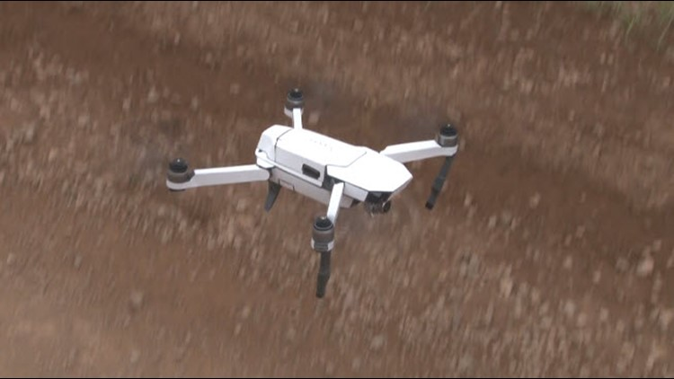 Brower used a small, camera-equipped drone to get a bird's eye view of the remote property.