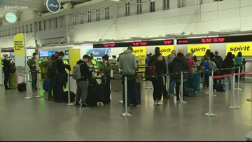 Quiet morning at MSP Airport amid snow, Thanksgiving travel