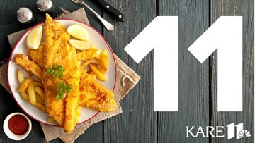 Map of 11 best fish fry picks from KARE 11 staff