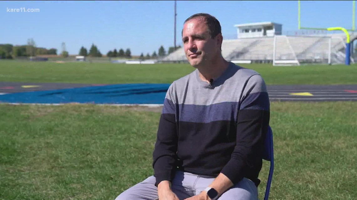 Waseca football coach returns just weeks after his heart stopped on the sidelines