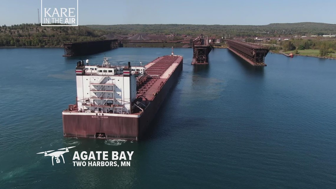 KARE in the Air: Two Harbors ore docks