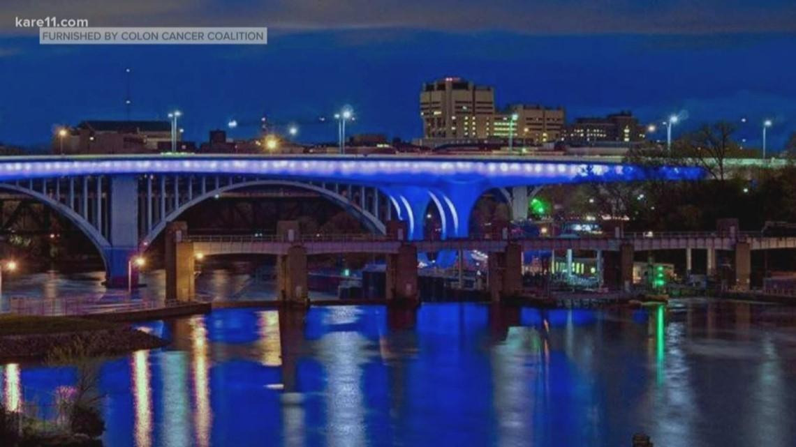 Minnesota landmarks go blue for colon cancer awareness