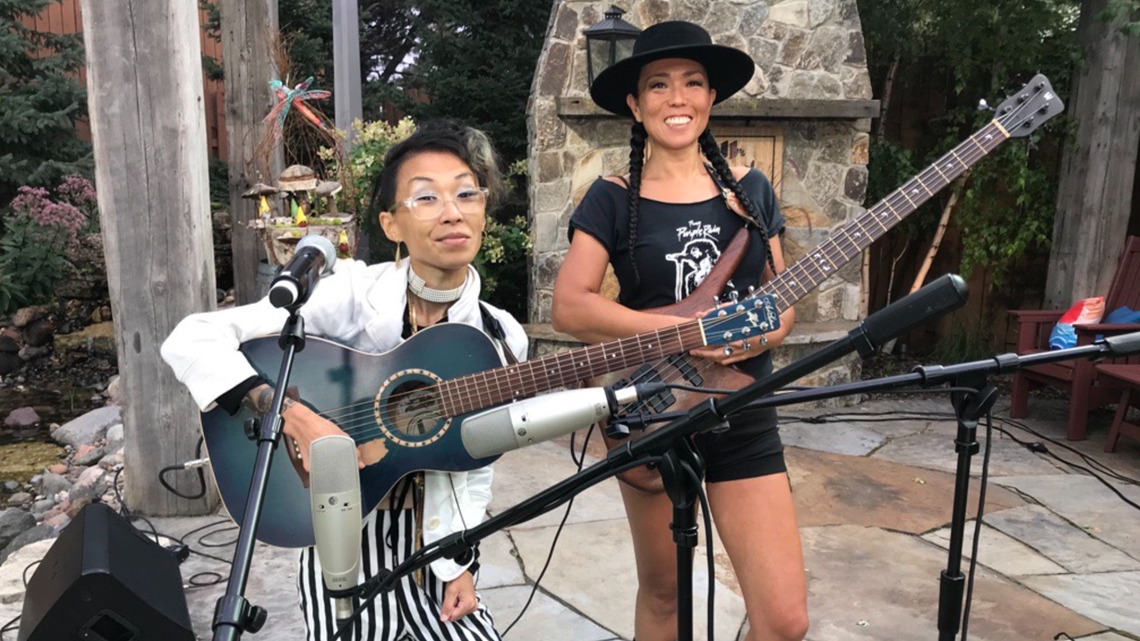 Mayda plays the KARE 11 backyard for 'MN Bands Together'