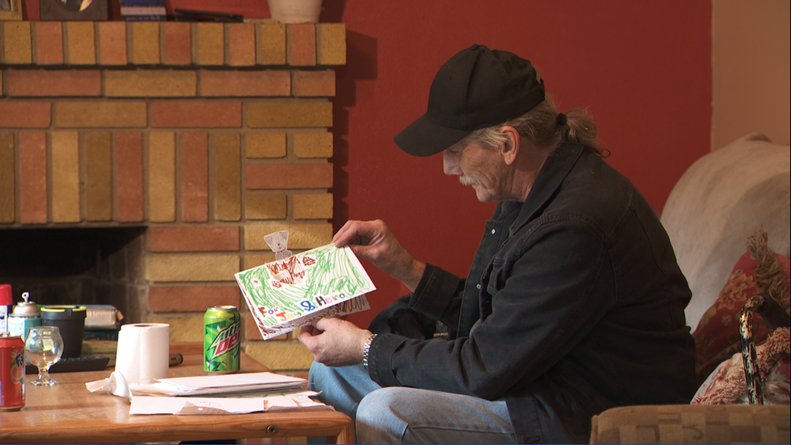 PHOTOS: Catholic school invites for blessing, homeless man who lost parts of his feet