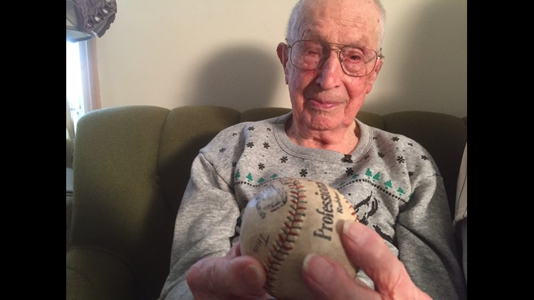 Len Youngmen and Babe Ruth home run ball