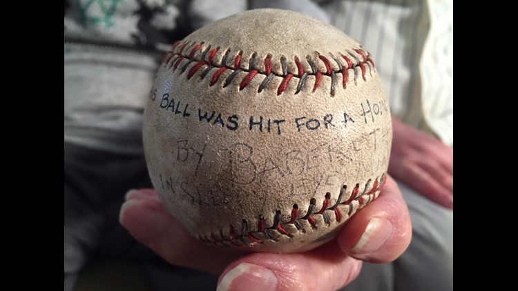 Babe Ruth home run baseball hit in Sleepy Eye, Minnesota