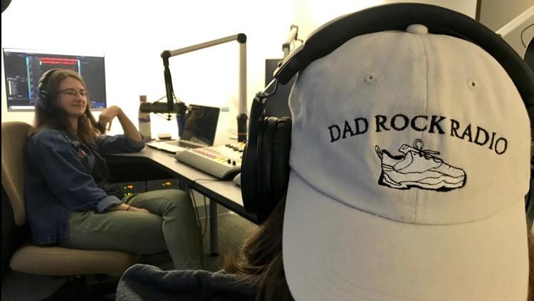 Nang Walter (wearing cap) and her sister Jenn Walter, hosts of Dad Rock Radio.