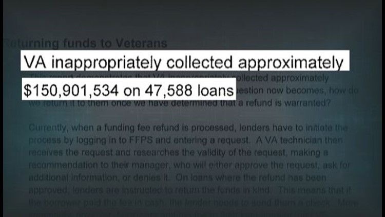 Internal VA records reveal 'VA inappropriately collected approximately $150,901,534 on 47,588 loans'