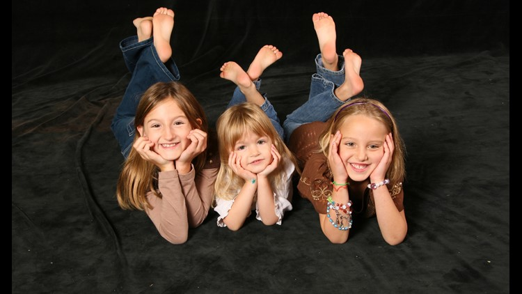 Amara, Cecilia and Sophie (left to right) Jessica Peterson's daughters