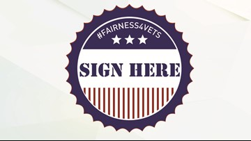 Sign the Fairness for Veterans petition to Congress