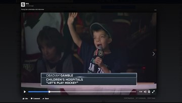 Obadiah's 'Let's Play Hockey' chant, goal reaction priceless
