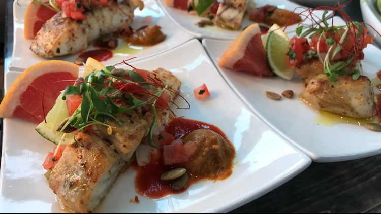 Baja Haus is offering a handful of new entrees, including this pan-seared Barramundi, available in Bat and Barrel.