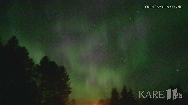WATCH: Northern Lights seen pulsating across Minnesota