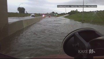Flooding closes I-90 in Austin