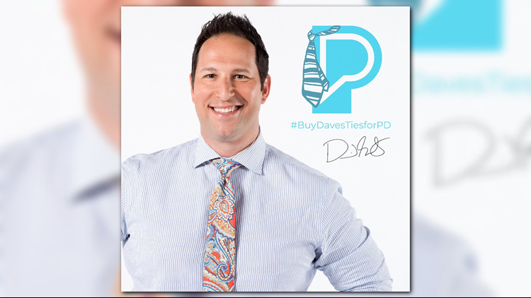 Buy Dave's ties and raise funds for the Parkinson's Foundation MN