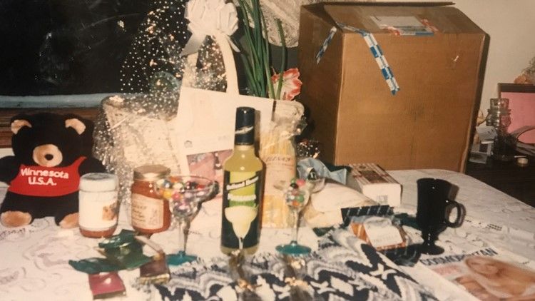 Champagne and gifts Gary Findlay received from women in 1994