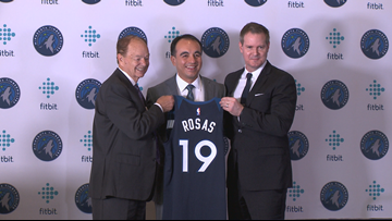 Gersson Rosas introduced as new Timberwolves President of Basketball Operations