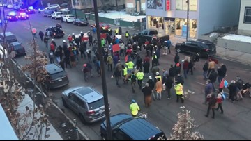 March to end labor trafficking in construction industry shuts down Uptown traffic