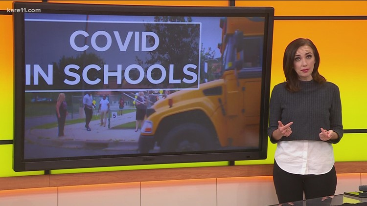 New numbers show the spread of COVID in schools in Minnesota