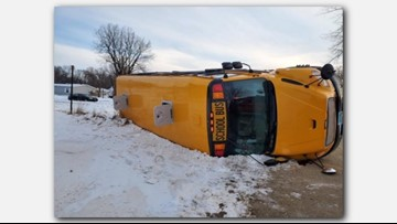 5 recovering after North Dakota school bus-train collision