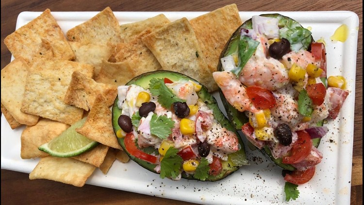 Firecracker Shrimp Stuffed Avocado