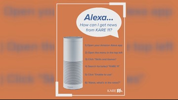 Get news updates from KARE 11 on your Amazon Alexa device