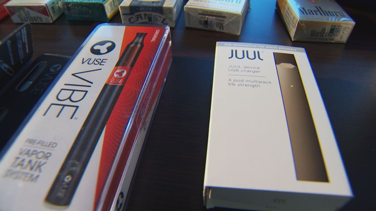Juul packets are said to have as much nicotine as an entire pack of cigarettes.