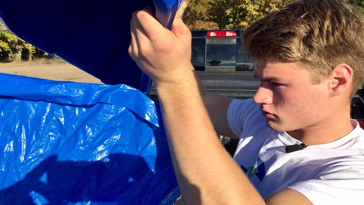 Pillager, Minnesota high school junior Noah Brogle started a company so his town would have curbside recycling
