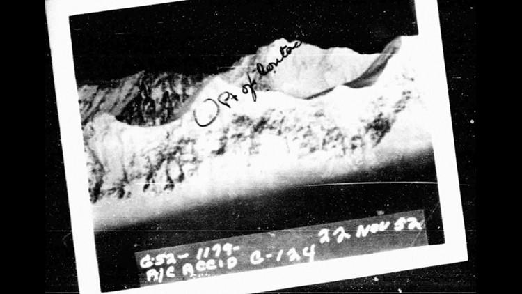 Photo of Mt. Gannett from crash investigation.