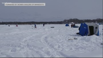 Women's only ice fishing tournament on Mille Lacs