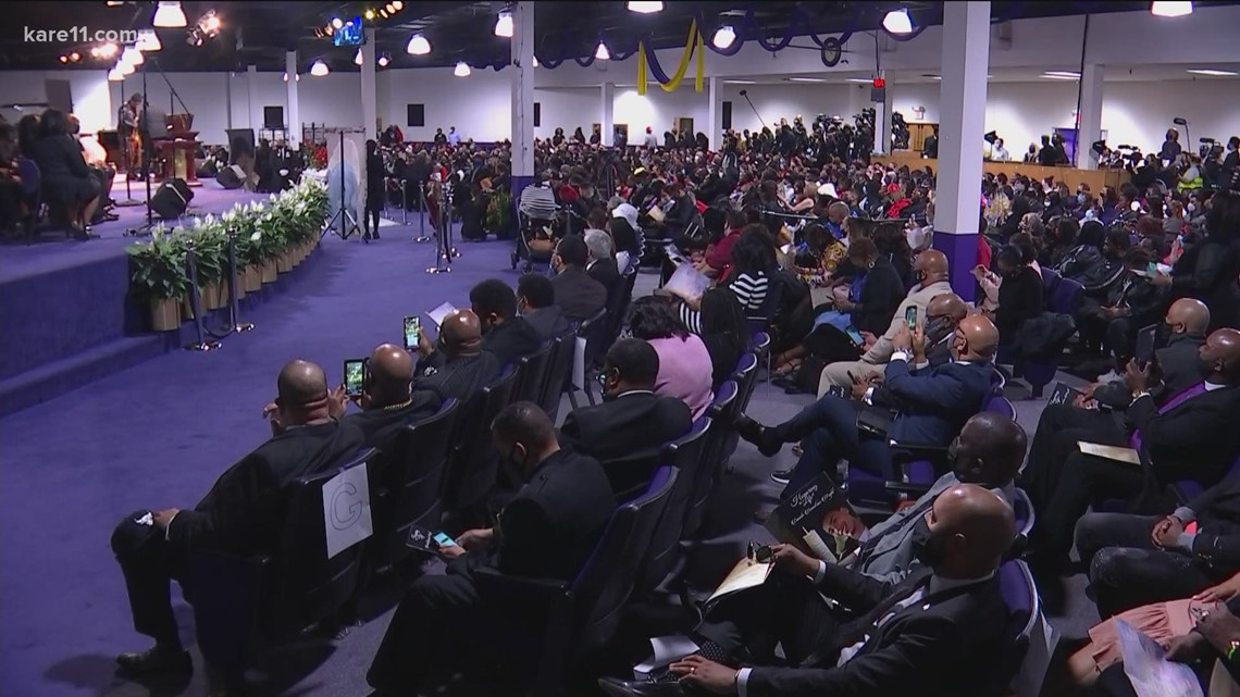 Daunte Wright funeral: Hundreds of mourners gather in Minneapolis