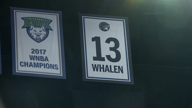 Lindsay Whalen's jersey retired at Target Center