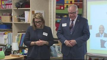 Walz touts plan to boost school funding