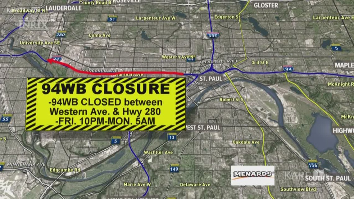 Weekend construction closing portions of major roads