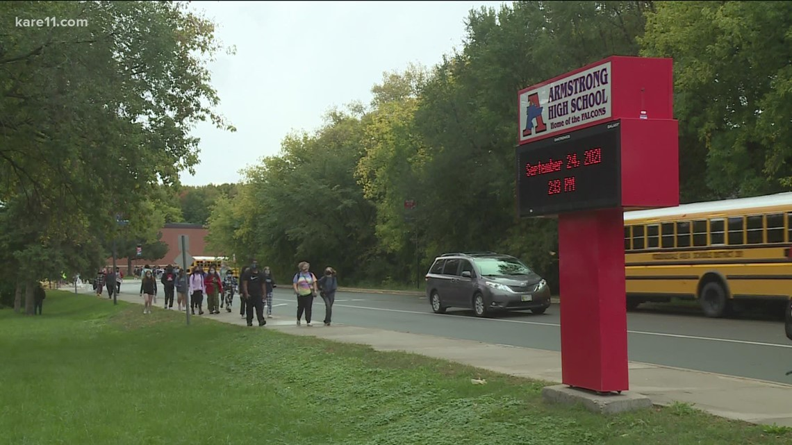 Hundreds of Armstrong High students walked out to protest sexual assault allegations