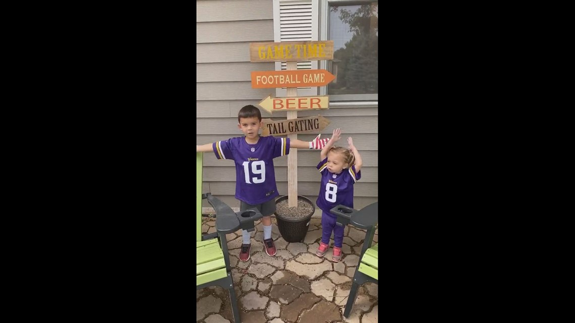 SKOL from these two Vikings Fans!