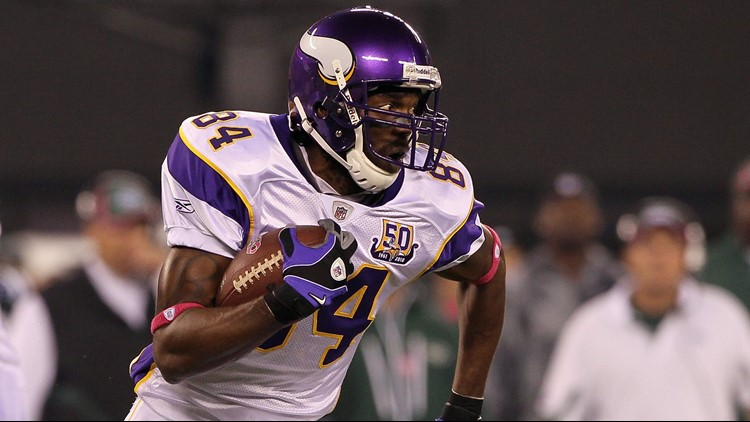 The former Minnesota Vikings wide receiver is being inducted into the Hall of Fame in Canton Ohio