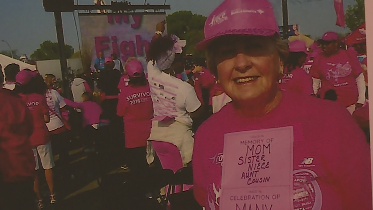 Eileen Ivory at Race for the Cure.