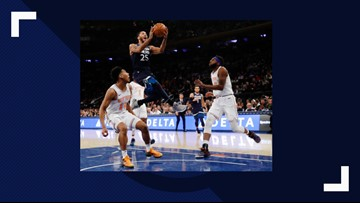 Wolves overcome Towns' first absence, beat Knicks 115-104