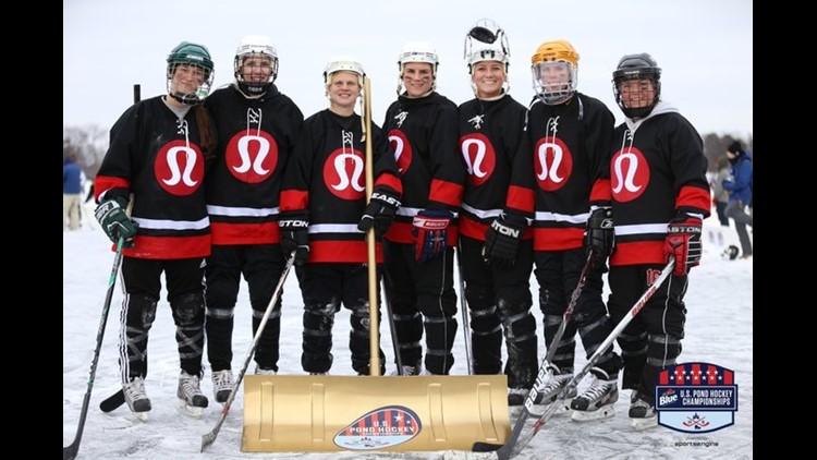 Team Lululemon at US Pond Hockey Championship 2018