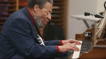 Music legend Cornbread Harris helped debut a needed piano at a North Mpls. school