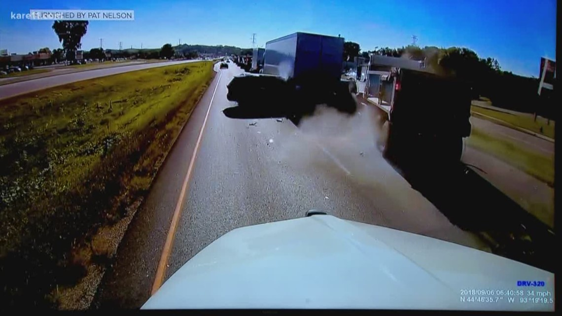 Driver who captured video of horrific dump truck crash speaks up
