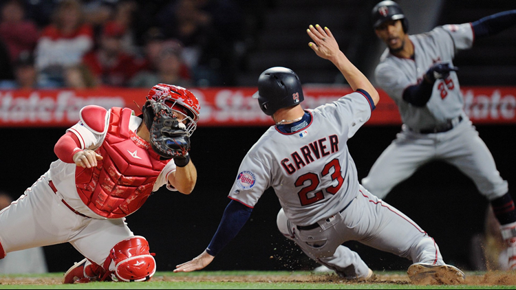The Twins beat the Los Angeles Angels 5-3 Saturday night.