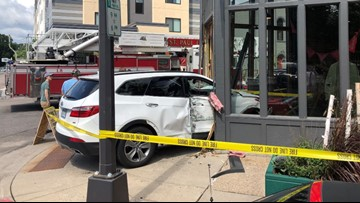 St. Paul crews respond to vehicle crashed into building