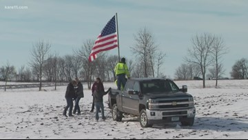 Landowners fly flag near fatal MN National Guard helicopter crash site