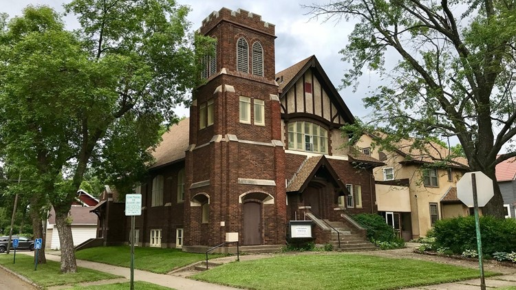 The former Grace Lutheran Church in Hibbing is now home to Mark Coen's casket woodshop