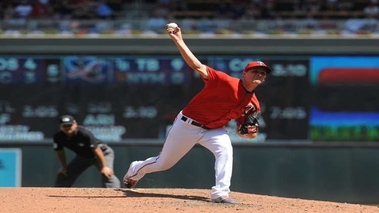 Jake Odorizzi pitched six scoreless innings and Mitch Garver, Eduardo Escobar and Brian Dozier homered as the Minnesota Twins completed a four-game sweep of the Baltimore Orioles with a 10-1 victory on Sunday