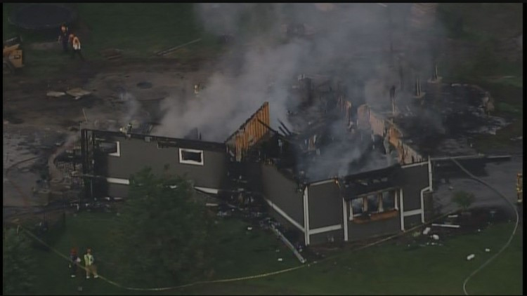 The Long Lake Fire Department responded to a report of a house on fire in the 700 block of Lakeview Parkway in Orono.