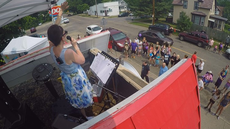 Karen Plaisted said she wanted to sing professionally as a child. She never got around to achieving that dream, but she took her talents to her Dairy Queen rooftop to fundraise for her granddaughter's multiple heart surgeries.